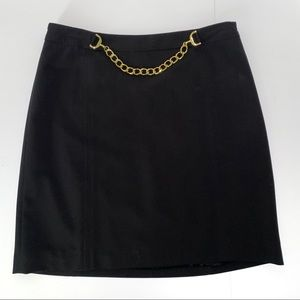 I.N.C. Straight Black Mini Skirt Size 2 Career